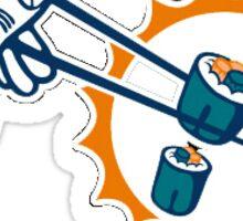 Miami Dolphins parody logo Sticker