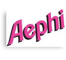 AEPhi Sorority Barbie Logo Canvas Print