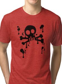 Spray Skull Tri-blend T-Shirt