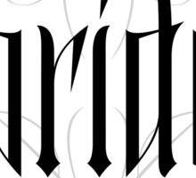 Gothic Bride Hand Lettering - Modern Vampire Tattoo Goth Wedding Calligraphy - Rehearsal Dinner Sticker