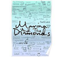 Marina and the Diamonds Original Drawing Poster