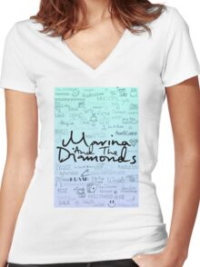 Marina and the Diamonds Original Drawing Women's Fitted V-Neck T-Shirt