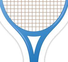 Blue tennis racket sticker Sticker