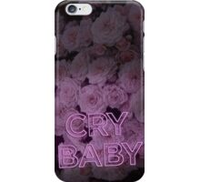 Cry Baby Neon Sign iPhone Case/Skin