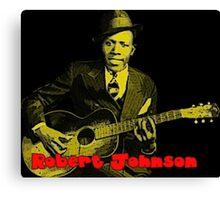 Robert Johnson - Blues Legend Canvas Print