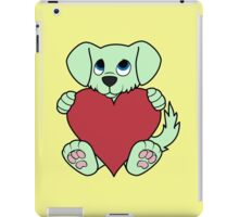 Valentine's Day Green Dog with Red Heart iPad Case/Skin