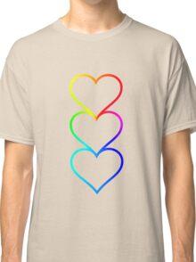 LOVE HEARTS X3 Classic T-Shirt
