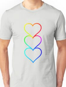 LOVE HEARTS X3 Unisex T-Shirt