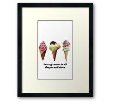 Cute ice cream  Framed Print