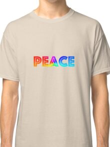 PEACE TEXT Classic T-Shirt