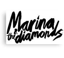 M Logo Black Canvas Print
