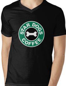 Star Dogs Coffee Mens V-Neck T-Shirt
