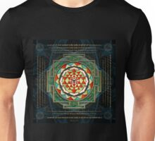 Maha Lakshmi (Laxmi) Mantra & Shri Yantra - Wealth Giving Unisex T-Shirt
