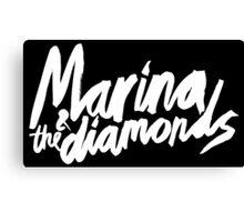 M Logo White Canvas Print