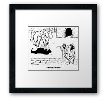 Zoo Humour - Cartoon 0001 Framed Print