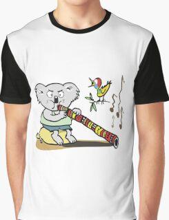 Koala playing didgeridoo cartoon Graphic T-Shirt