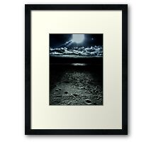 Manhattan Beach Dark Framed Print
