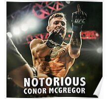 Notorious McGregor Fingers UFC194 Poster