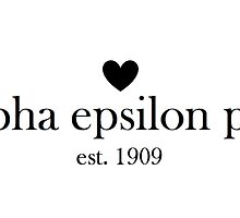 AEPhi Est. 1909 by glitterwithtree