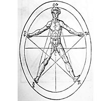 Pentagram and Human body Photographic Print