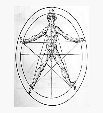 Pentagram and Human body Photographic Print