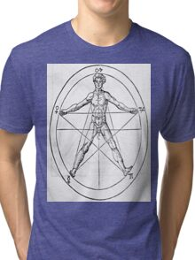 Pentagram and Human body Tri-blend T-Shirt