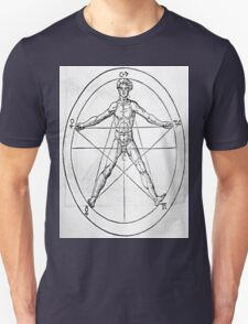 Pentagram and Human body T-Shirt