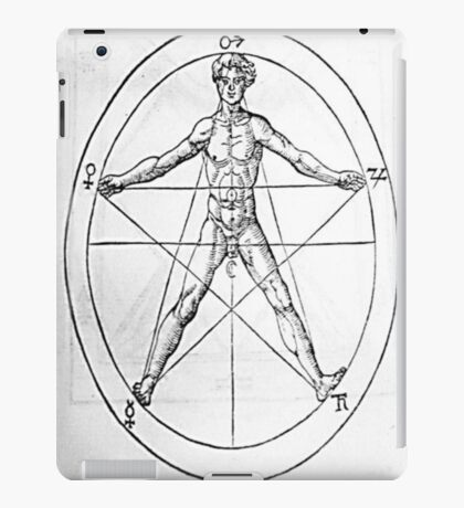 Pentagram and Human body iPad Case/Skin