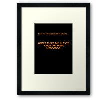 Finite Amount of Spoons-Clean Version Framed Print