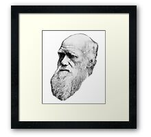 Darwin Face  Framed Print