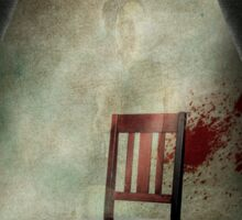 Composition with a chair Sticker