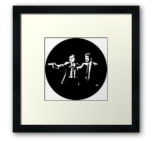 Cosmos Pulp Fiction (Round) Framed Print