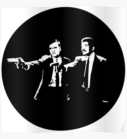 Cosmos Pulp Fiction (Round) Poster