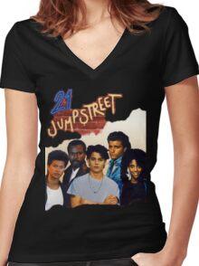 21 Jump Street Cast Women's Fitted V-Neck T-Shirt