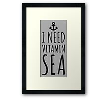 Vitamin Sea Quote Framed Print