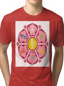 """om mani padme huṃ hriḥ"" Tri-blend T-Shirt"