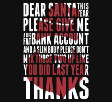 Santa Claus Funny - christmas Quotes One Piece - Short Sleeve