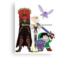 Steven Universe meets the Legend of Zelda Canvas Print