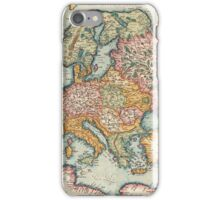 Worldmap, Europe, Asia, Africa, America and portrait. iPhone Case/Skin