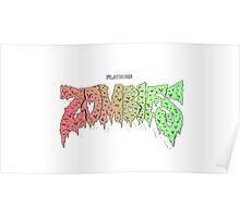 FLATBUSH ZOMBIES BASIC LOGO Poster