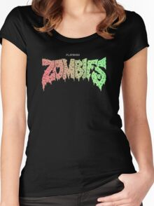FLATBUSH ZOMBIES BASIC LOGO Women's Fitted Scoop T-Shirt