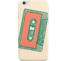 Audio tape sketch iPhone Case/Skin