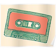 Audio tape sketch Poster