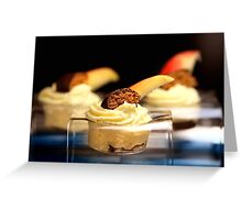 Ginger Bread, Baked Apple and White Mousse Au Chocolat Greeting Card