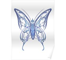 Ribbon Butterfly Poster