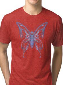 Ribbon Butterfly Tri-blend T-Shirt