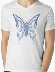 Ribbon Butterfly Mens V-Neck T-Shirt