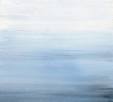 Seascape - Misty Blue by sweetblissart