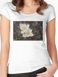 Bridal White Pair - Crocus Harbingers of Spring Women's Fitted Scoop T-Shirt