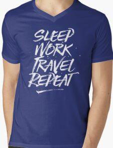 Sleep, Work, Travel, Repeat Mens V-Neck T-Shirt